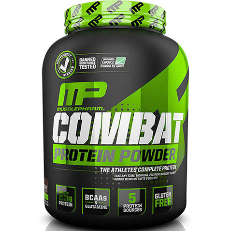 MP Combat Protein Powder Whey 4 lbs 52 servings, Chocolate | MusclePharm