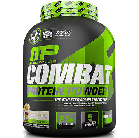 MP Combat Protein Powder Whey 4 lbs 52 servings, Cookies and Cream | MusclePharm