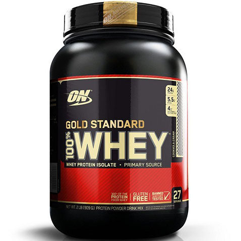 ON Gold Standard 100% Whey, Cookies and Cream, 2 lbs | Optimum Nutrition