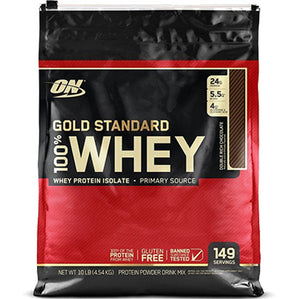 ON Gold Standard 100% Whey, Double Rich Chocolate, 10 lbs | Optimum Nutrition