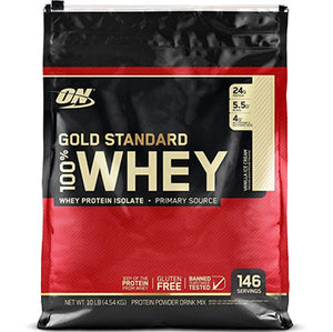 ON Gold Standard 100% Whey, Vanilla Ice Cream, 10 lbs | Optimum Nutrition