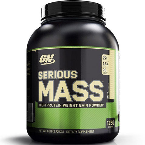 ON Serious Mass, Vanilla, 6 lbs | Optimum Nutrition
