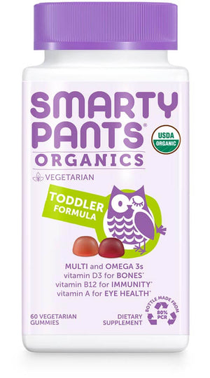 SmartyPants Vitamins Organic - Toddler Formula 60 gummies