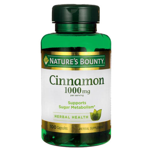 Cinnamon 1000mg 100 capsules | Nature's Bounty