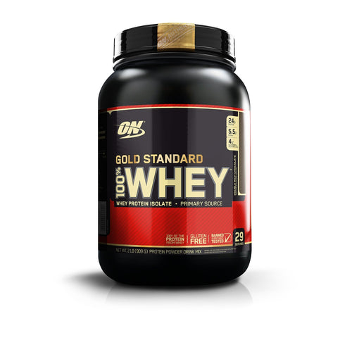 Gold Standard 100% Whey 2 lbs, Double Chocolate | Optimum Nutrition Image Healthy Habits Philippines
