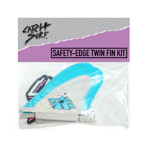 Catch Surf UK - Beater Pro - Safety Edge Twin Fin Kit - Grey & Cool Blue