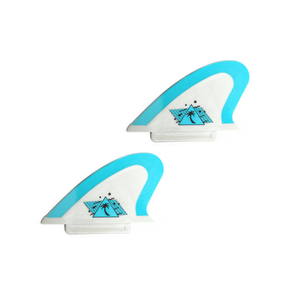 Beater Pro - Safety Edge Twin Fin Kit - Grey & Cool Blue