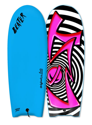 "....Lost 54"" Beater - Spiral Azure Blue - Finless"