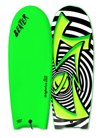 "Catch Surf UK - ....Lost 54"" Beater - Spiral Lime Green - Finless"