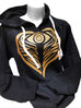 AngelEyes Heart Evil Eye Sweatshirt for extra protection by Goddaughters Wearable Art for the Soul