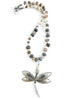 Dragonfly Shell Summer Statement necklace