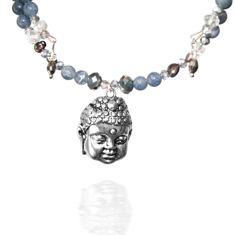 Happy buddha choker goddaughters wearable art for the soul happy buddha choker necklace mozeypictures Images