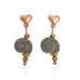 Rose Gold Heart Shell Earrings