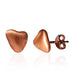 Mindful Pebble a symbol of Mindfulness Rose Gold Stud Earrings by the Goddaughters