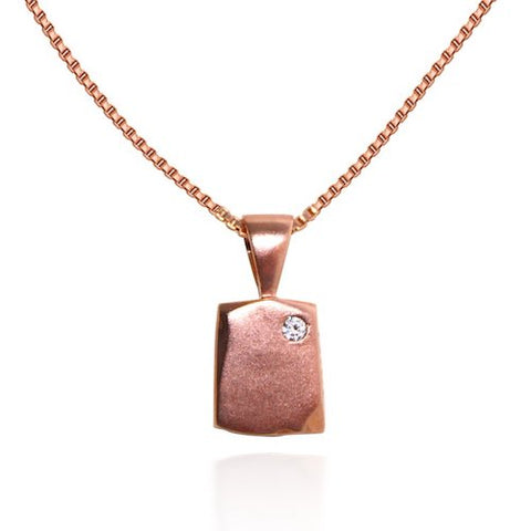 Rose Gold Odin Petite New Beginning Necklace with box chain