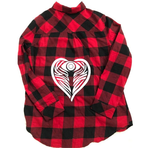 AngelEyes Heart Buffalo Check Flannel Shirt