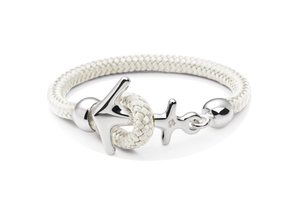Silbernes Anker Armband in Aruba White