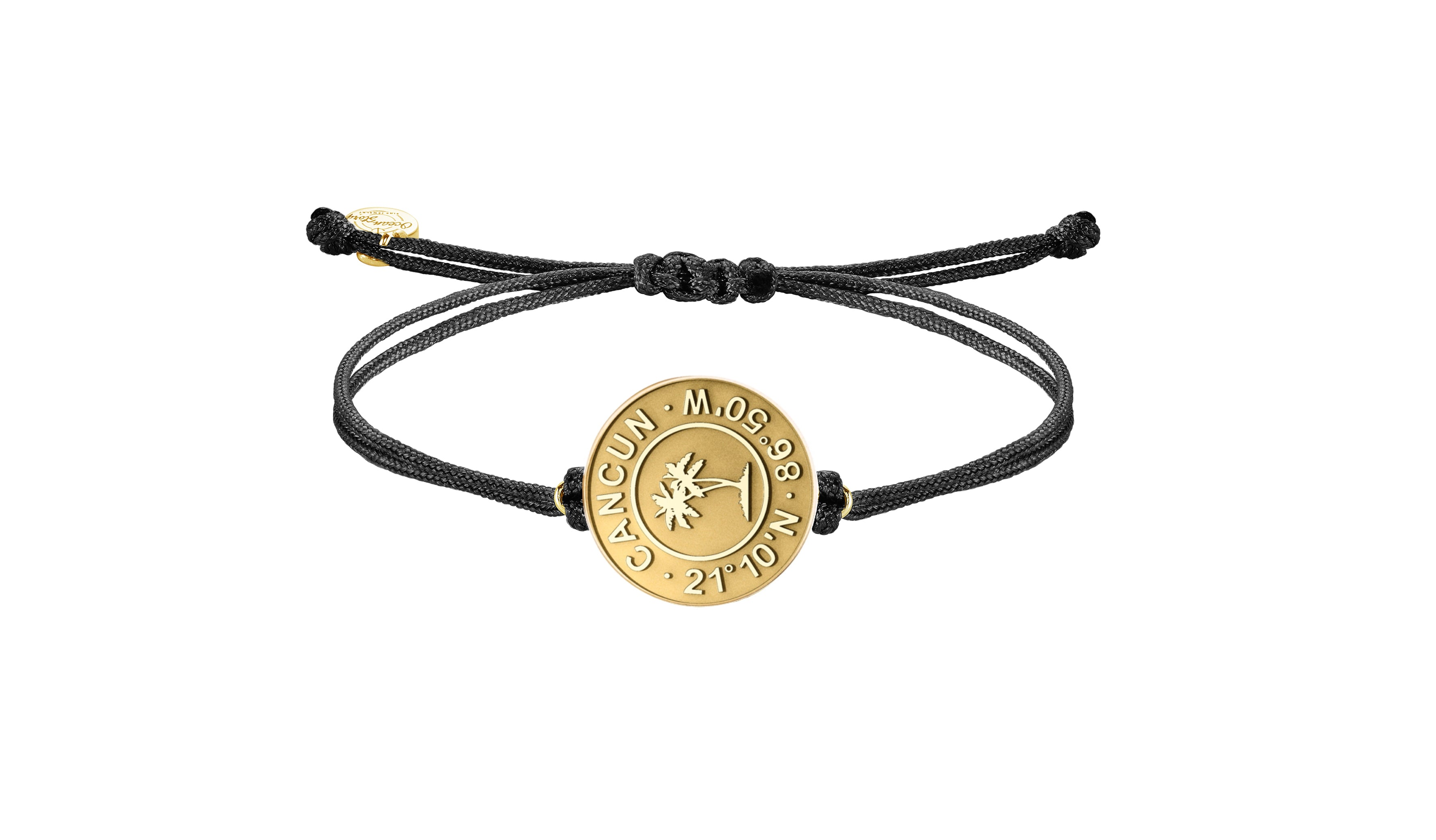 Goldenes Cancun Münz Armband mit Stretch