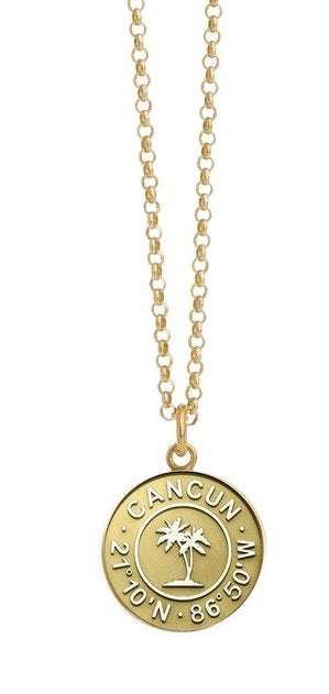 Gold Coin Necklace `Cancun