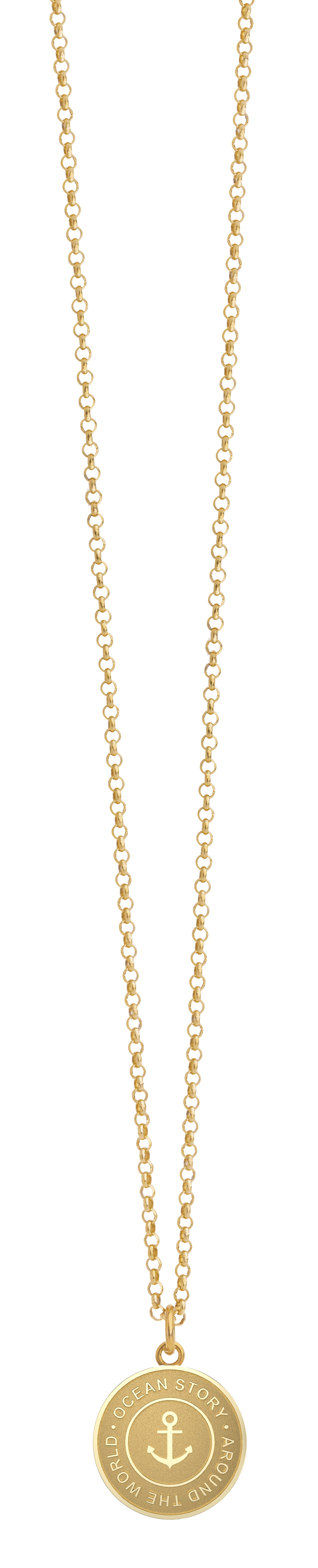 Travel Necklace in Gelbgold