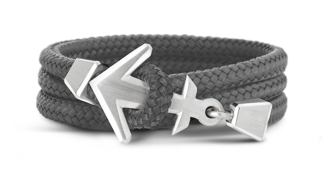 Black Shore Anker Armband in Galapagos Grey