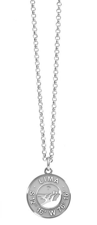 Coin Silver Necklace `Lima