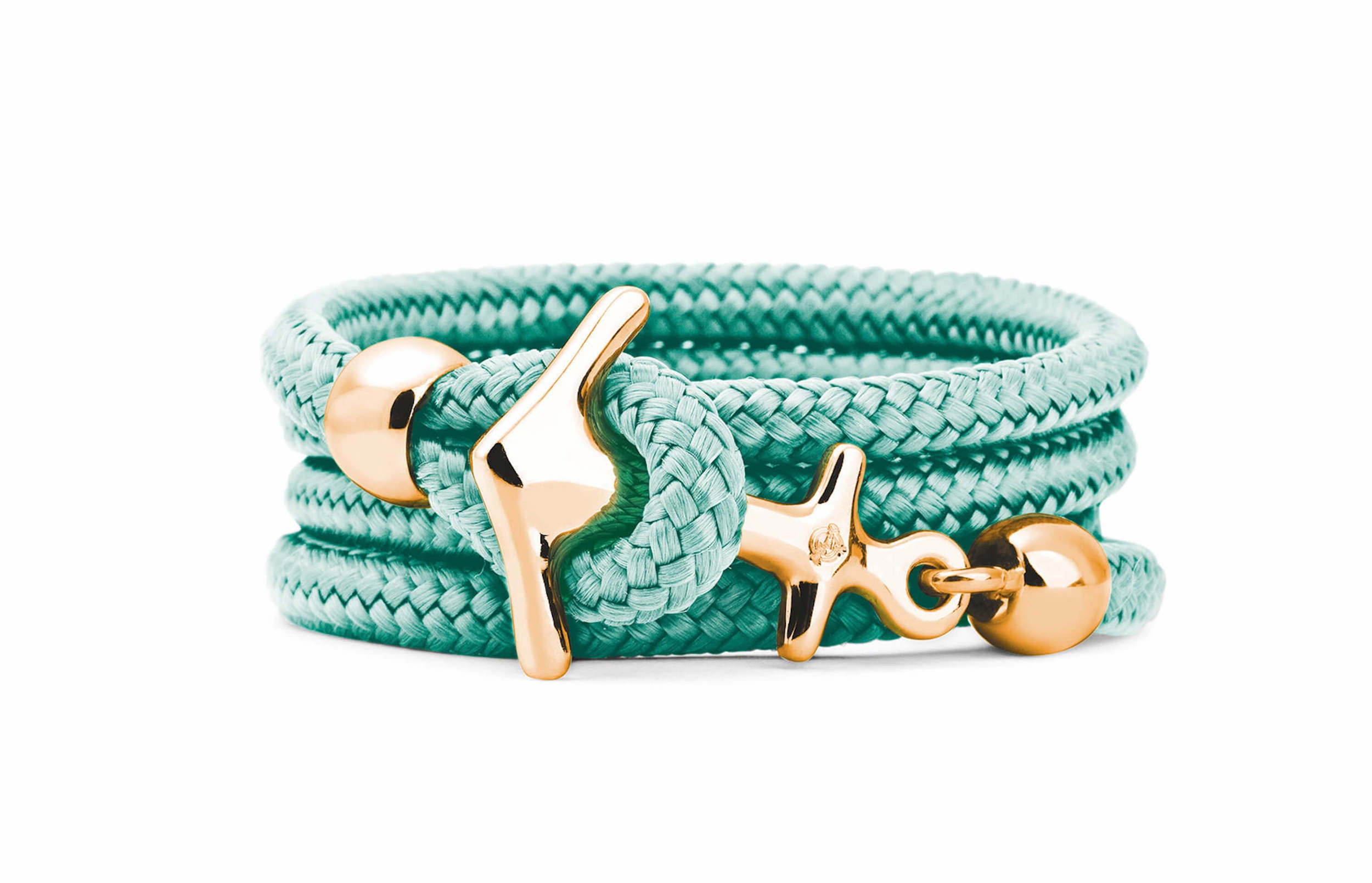 Goldenes Anker Armband in mint