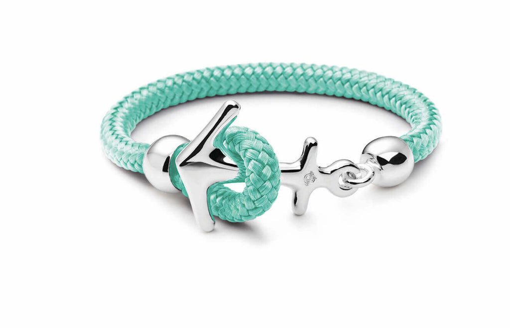 Silbernes Anker Armband mint
