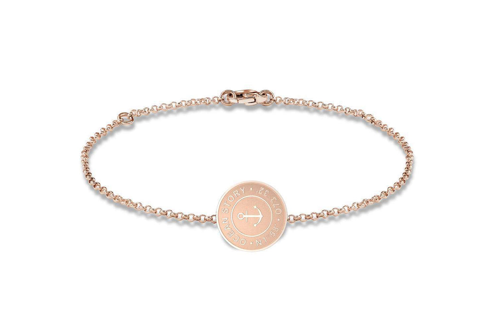 Personalisiertes Armband in Roségold