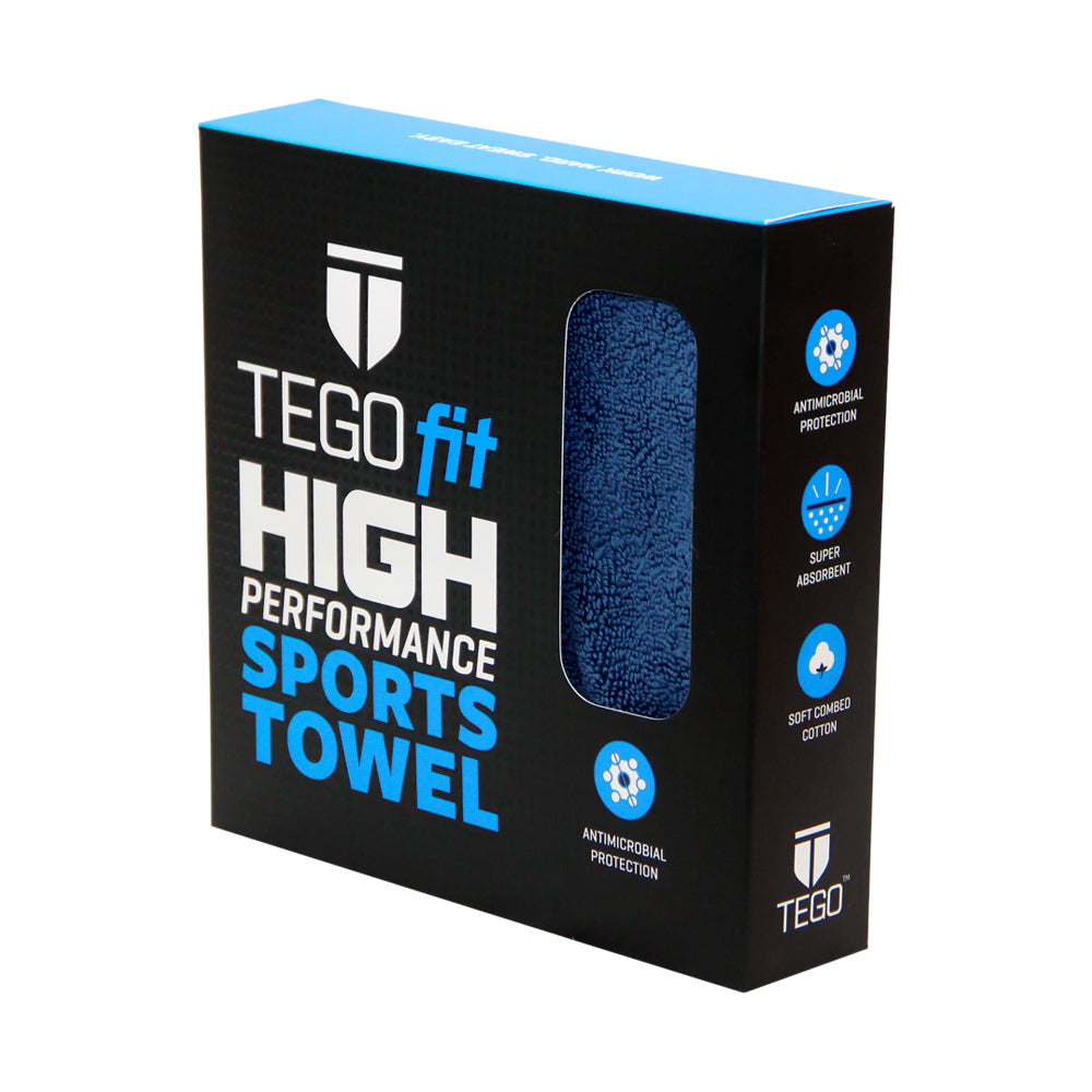 TEGOfit Sports Towel - Jet Black