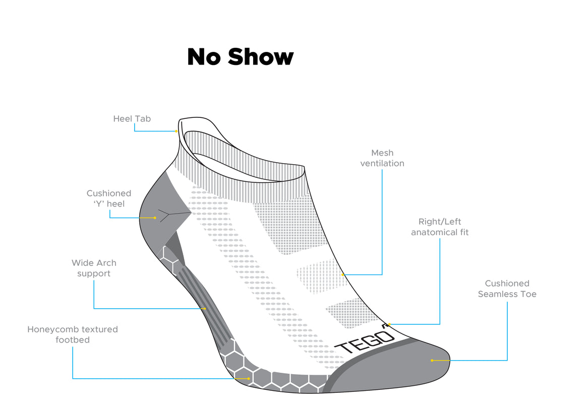 No Show Cotton - Grey GRN-1Pair