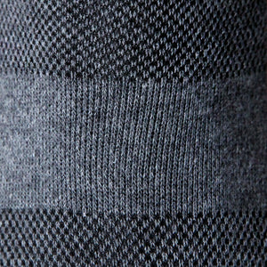No Show Cotton - Black Grey BLU-2Pcs