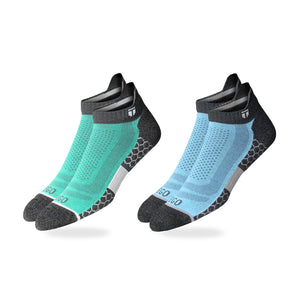 No Show Coolmax - Blue Green GRY-2Pcs