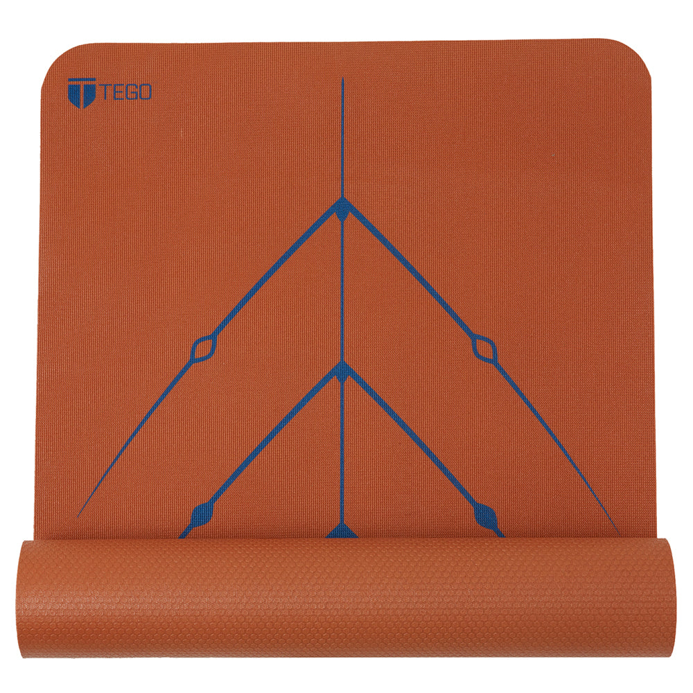 Truly Reversible Mat with GuideAlign™ - Bronze Navy