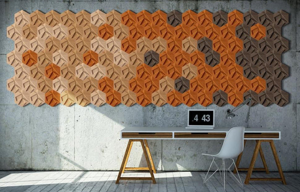 MURATTO CORK WALL DESIGN - ORGANIC BLOCKS - HEXAGON