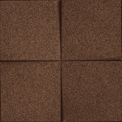 MURATTO CORK WALL DESIGN - ORGANIC BLOCKS - CHOCK - AUBERGINE