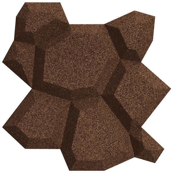 MURATTO CORK WALL DESIGN - ORGANIC BLOCKS - BEEHIVE - AUBERGINE