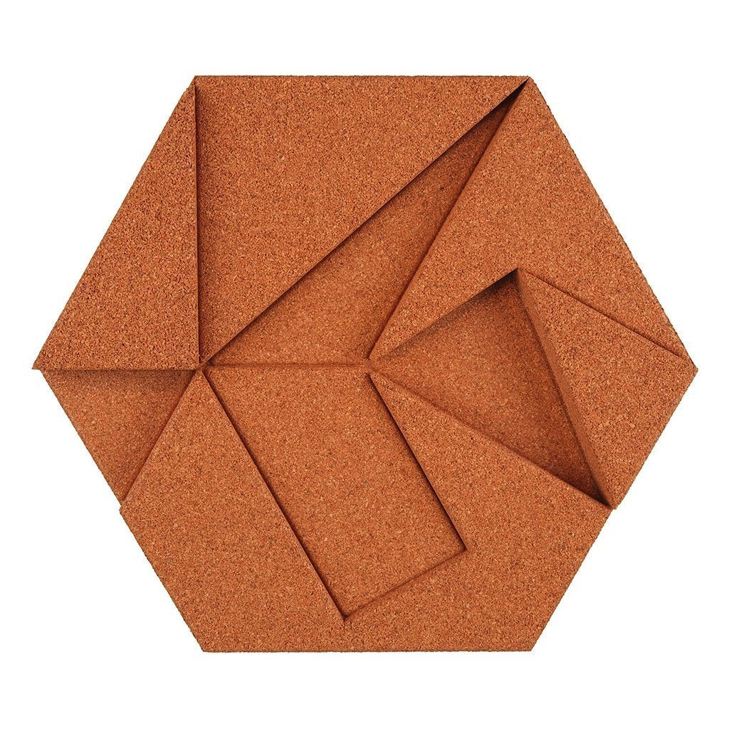 Muratto Cork Wall Design Organic Blocks Hexagon