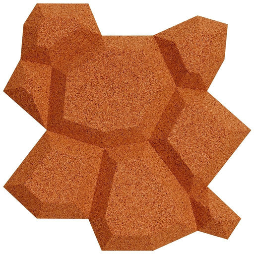 MURATTO CORK WALL DESIGN - ORGANIC BLOCKS - BEEHIVE - RED