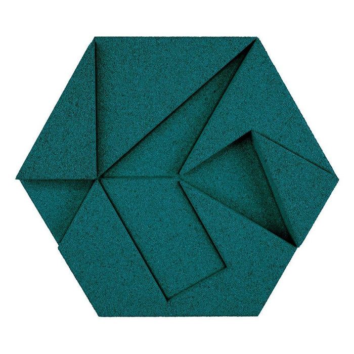 MURATTO CORK WALL DESIGN - ORGANIC BLOCKS - HEXAGON - EMERALD