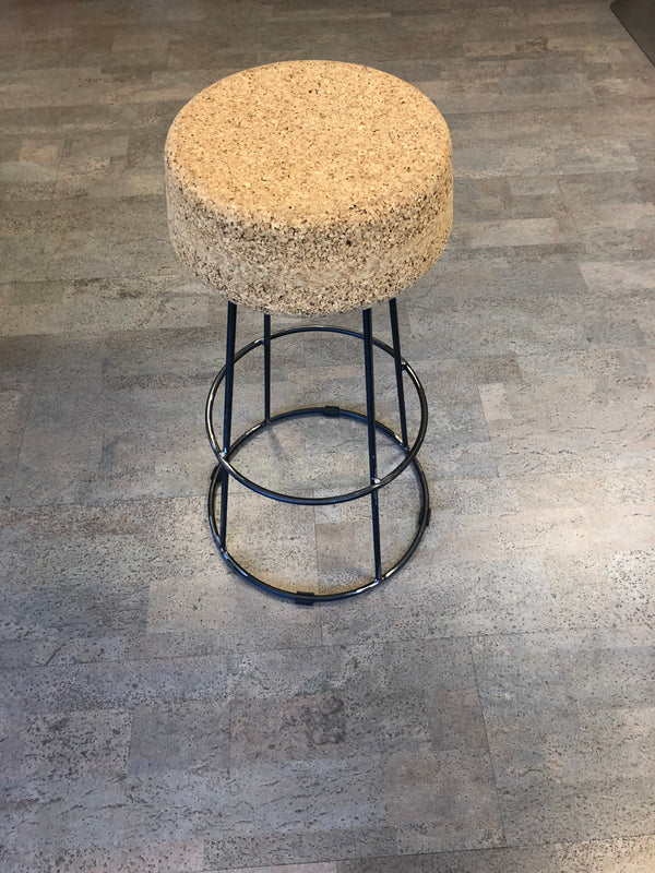 Metal Base Cork Stool