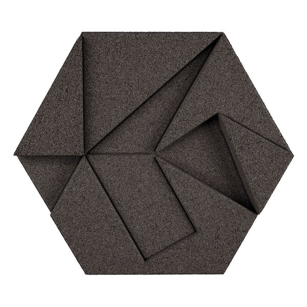 MURATTO CORK WALL DESIGN - ORGANIC BLOCKS - HEXAGON - GREY