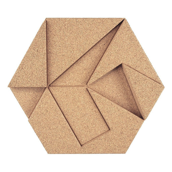 MURATTO CORK WALL DESIGN - ORGANIC BLOCKS - HEXAGON - IVORY