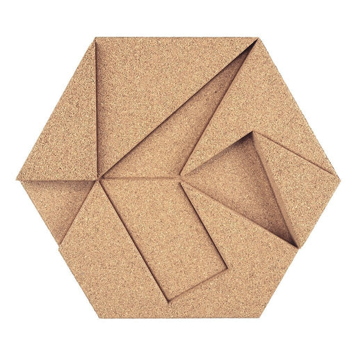 MURATTO CORK WALL DESIGN - ORGANIC BLOCKS - HEXAGON - OLIVE