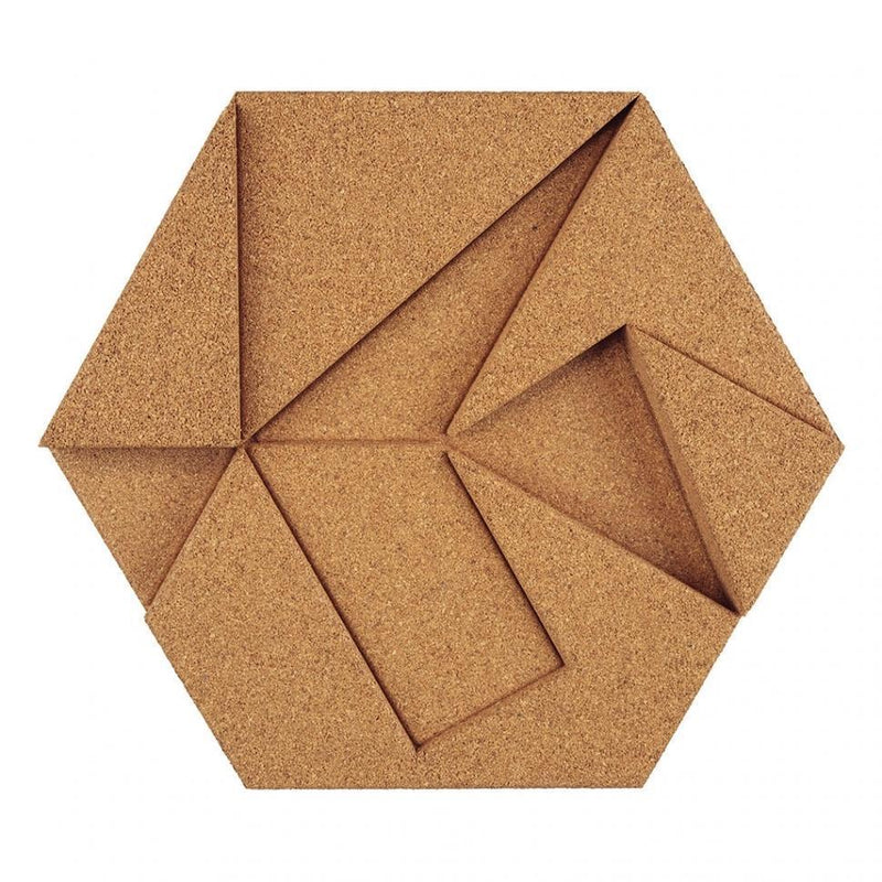 MURATTO CORK WALL DESIGN - ORGANIC BLOCKS - HEXAGON - NATURAL