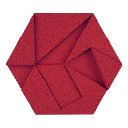 MURATTO CORK WALL DESIGN - ORGANIC BLOCKS - HEXAGON - RED