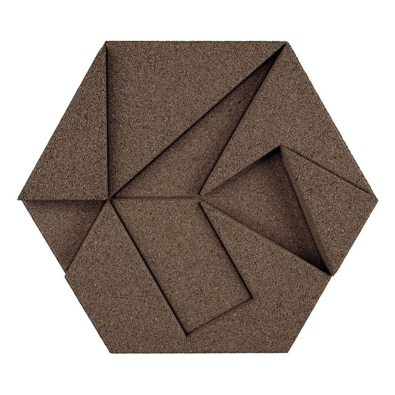 MURATTO CORK WALL DESIGN - ORGANIC BLOCKS - HEXAGON - TAUPE