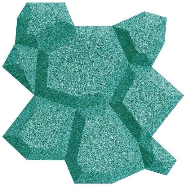 MURATTO CORK WALL DESIGN - ORGANIC BLOCKS - BEEHIVE - TURQUOISE