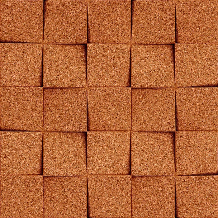 MURATTO CORK WALL DESIGN - ORGANIC BLOCKS - MINICHOCK - RED
