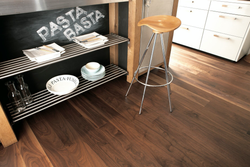 Boen Engineered American Black Walnut 138 x 14/3.5mm - Animoso Grade with Micro Bevel - Satin Lacquer Finish